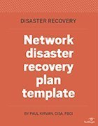 Network DR plan template