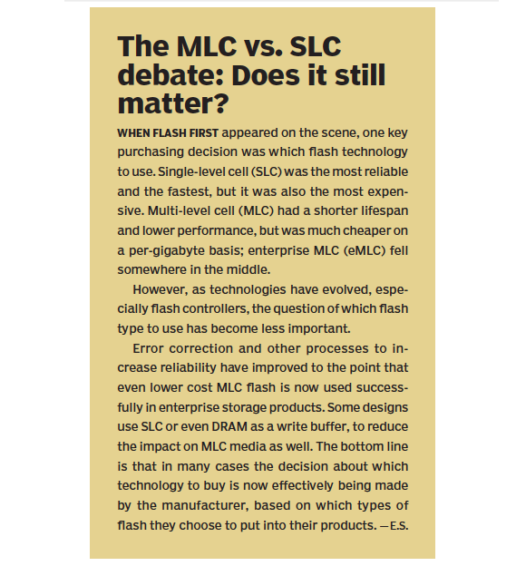 The MLC vs. SLC debate: Does it still matter?