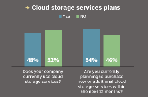 Does your company currently use cloud storage services?
