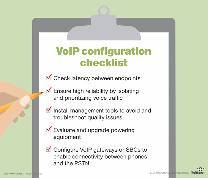 How to configure VoIP on a network