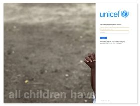 UNICEF phishing site