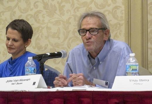 John Van Maanen speaks during a panel discussion at the MIT Sloan CFO Summit in Newton, Mass.