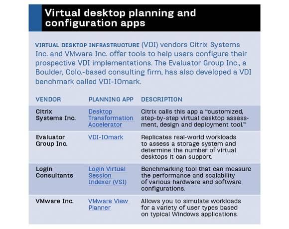 VDI planning apps