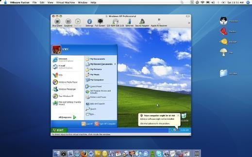 Windows XP virtual desktop