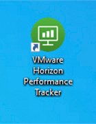 Figure 2. The VMware Horizon Performance Tracker icon will appear on a user's desktop.