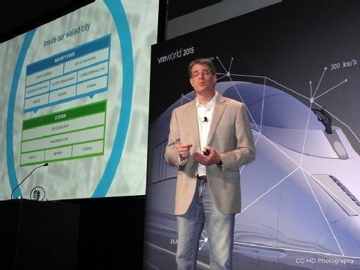 Tom Corn, of VMware, presents at VMworld 2015