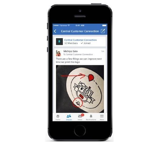 Yammer mobile markup
