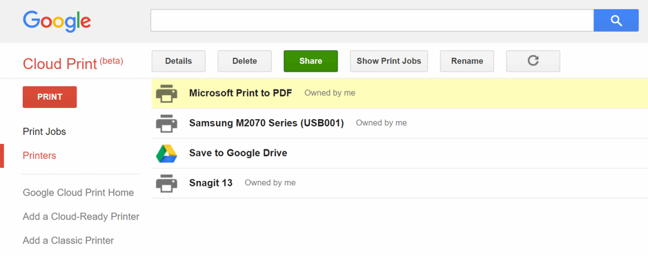 Google Cloud Print – A poor man's printing solution, or is it?