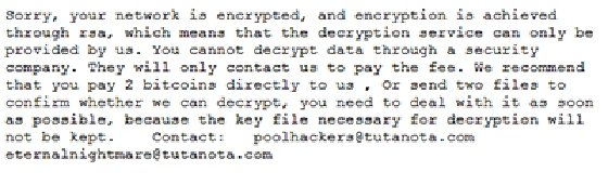 Cring ransomware note