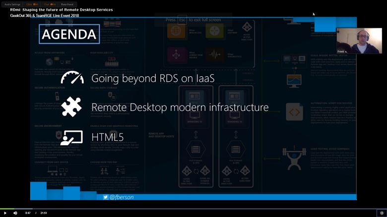 Remote Desktop Services GO365 Screenshot