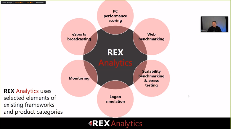 benchmark remote end user experience w/REX