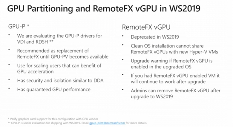 RemoteFX vGPU put out to pasture as Microsoft RDP grows up