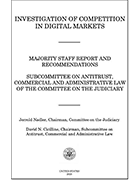 Front page of House antitrust report on tech giants