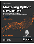 Mastering Python Networking book cover