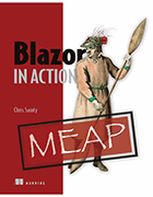 book cover image, 'Blazor in Action' by Chris Sainty
