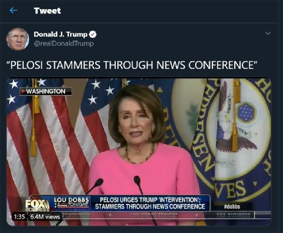 Manipulated video, Donald Trump, Nancy Pelosi