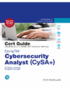 Cover of CompTIA Cybersecurity Analyst (CySA+) CS0-002 Cert Guide