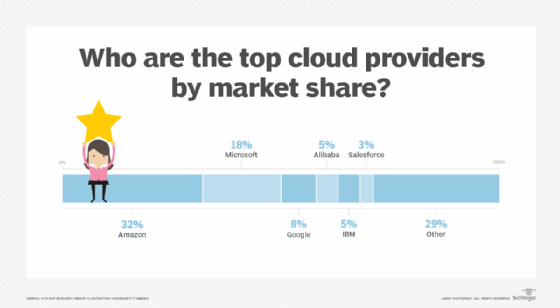 Top cloud providers graphic