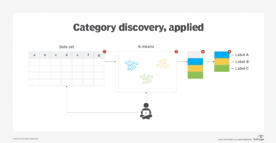 illustration of the application of the category discovery technique