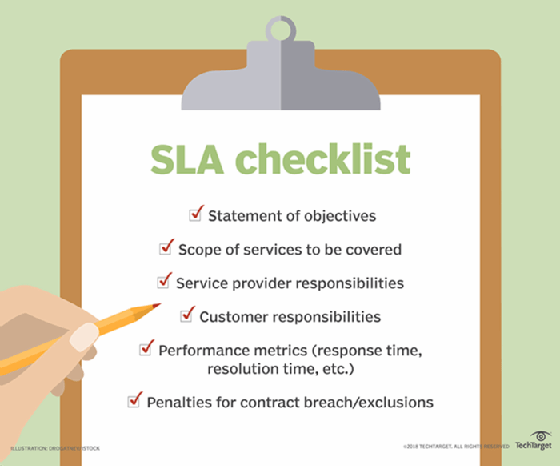 What Is Service Level Agreement Sla Definition From Whatis