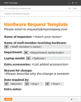A Fine Tuned Change Request Template Minimizes User Discontent