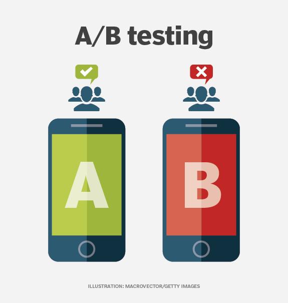 A/B-Tests ermöglichen es Entwicklern, verschiedene Funktionen von mobilen Anwendungen auszuprobieren.
