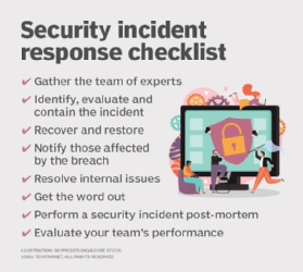 8 items to include in a security incident checklist