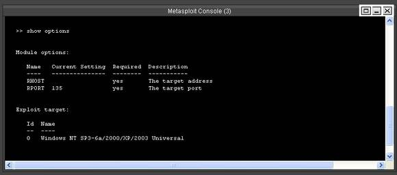Metasploit RPC DCOM exploit options; Basic metasploit tutorial