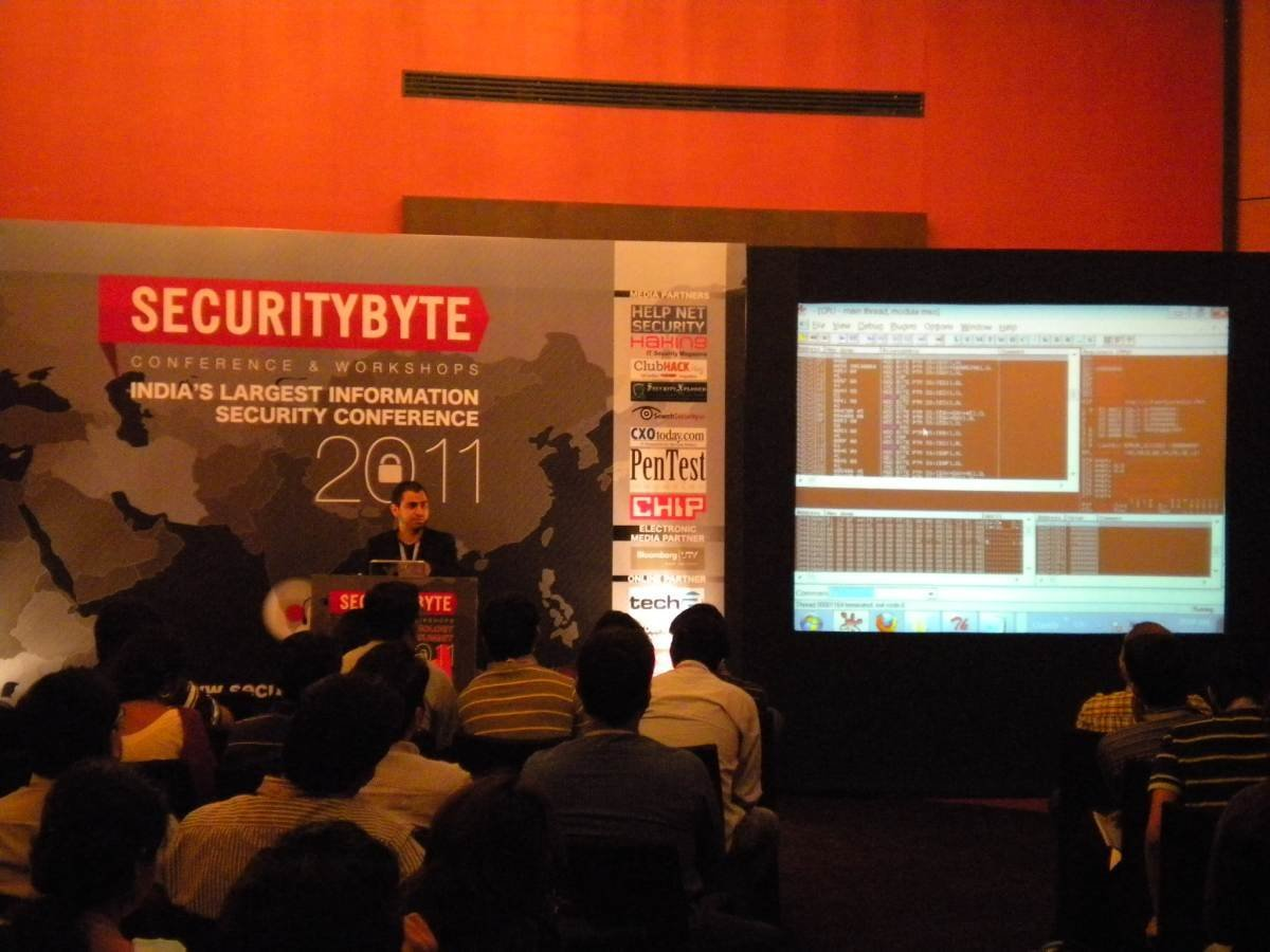 Freeze frames from Securitybyte 2011 Day 2