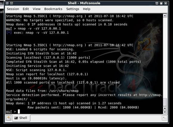 nMap within Metasploit; Basic metasploit tutorial