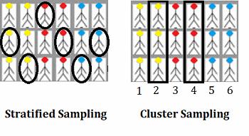 Echantillonnage stratifié et par grappes