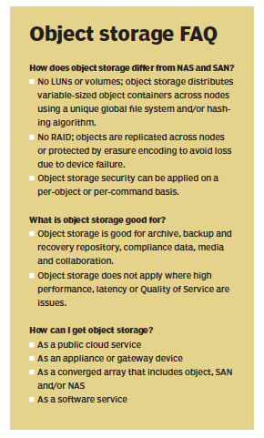 object storage FAQ