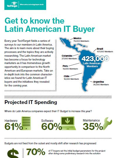 latin american technology buyer infographic snippet