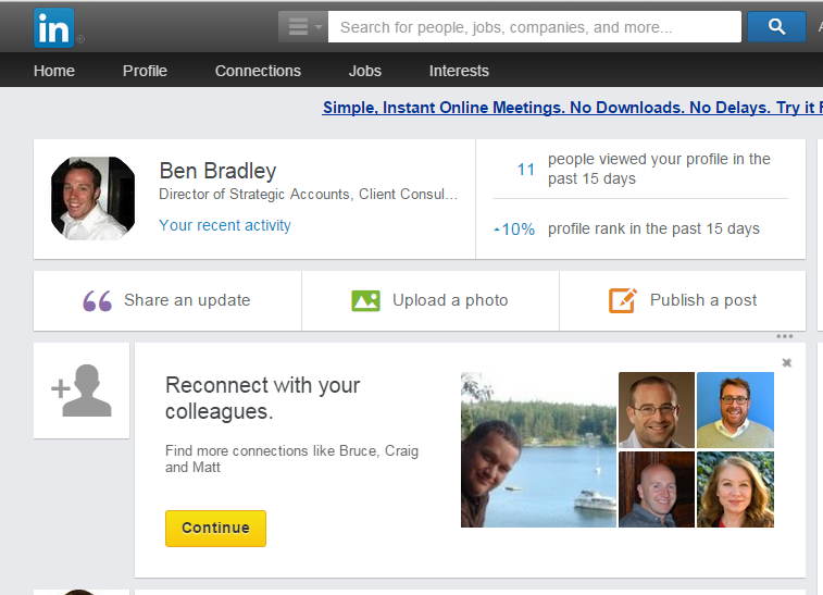 Marketing mistake - LinkedIn