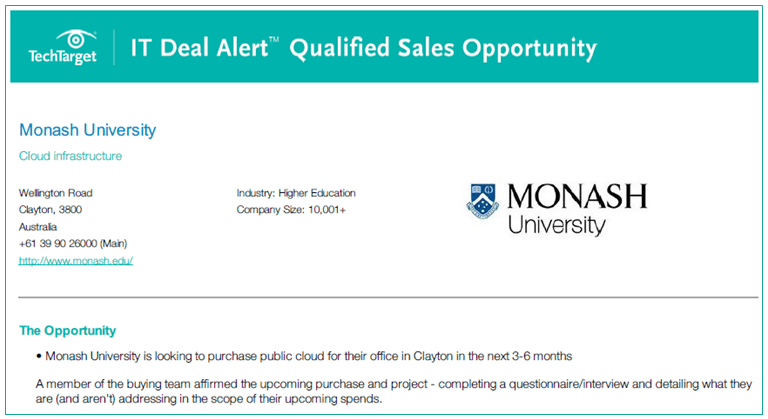 qualified sales opportunities real purchase intent insight cloud
